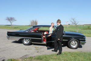 PETBoy's grandfather's restored 1961 Ford Galaxie Starliner.  (I myself went to prom in 1986 in a 1967 1/2 Galaxie 500. Sigh.)