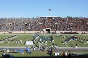 Yale Precision Marching Band at the beginning of halftime. Photo by The CEO.