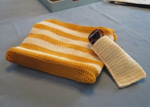 Purse and coordinating glasses case.